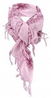 Halstuch in bordeaux lila rosa Totenköpfe Gr. 100 cm x 100 cm - Tuch Baumwolle