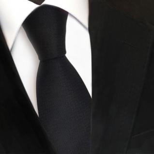 Schöne Designer Krawatte schwarz Uni fein gepunktet - Schlips Binder Tie