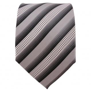 Enrico Sarto hochwertige Seidenkrawatte silber grau anthrazit gestreift - Seide - Vorschau 3