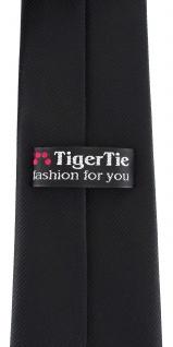 XXL TigerTie Security Sicherheits Krawatte in schwarz einfarbig Uni - Vorschau 3