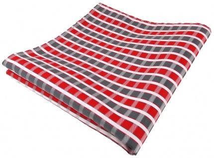 TigerTie Einstecktuch in rot grau silber weiss gestreift