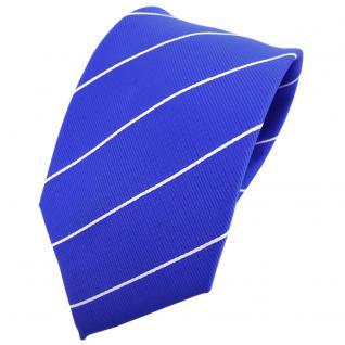 TigerTie Krawatte blau ultramarinblau silber gestreift - Binder Tie