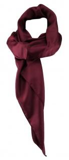 TigerTie Damen Chiffon Halstuch bordeaux weinrot Uni Gr. 80 cm x 80 cm - Schal