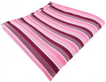 TigerTie Designer Einstecktuch in rosa pink magenta fuchsia weiß gestreift
