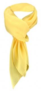 TigerTie Damen Chiffon Halstuch gelb Uni Gr. 90 cm x 90 cm - Schal