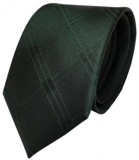 TigerTie Designer Seidenkrawatte grün dunkelgrün kariert - Krawatte Seide Silk