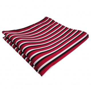 TigerTie Einstecktuch rot weiss schwarz gestreift - Tuch Polyester