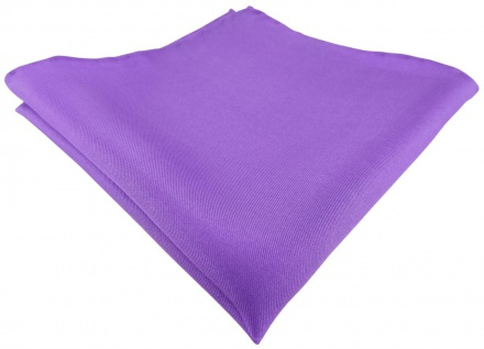Einstecktuch handrolliert lila einfarbig Uni - 100% Seide - Gr. 30 x 30 cm
