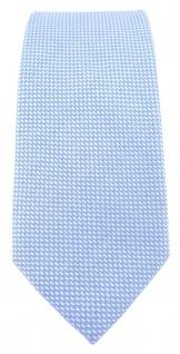 schmale TigerTie Designer Krawatte Pique hellblau-weiss gemustert - Baumwolle - Vorschau 2