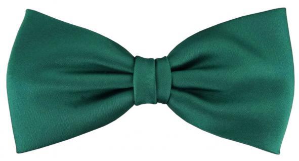 vorgebundene TigerTie Satin Fliege grün dunkelgrünUni einfarbig + Geschenkbox
