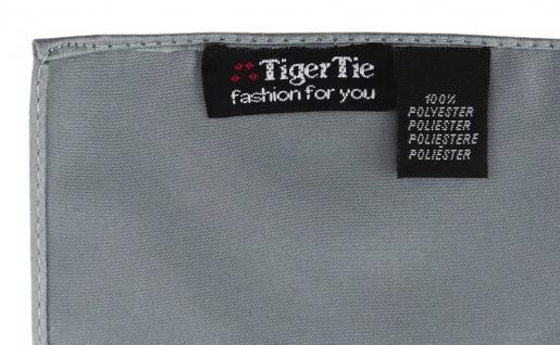 TigerTie Satin Einstecktuch in silber einfarbig Uni - Größe 26 x 26 cm - Vorschau 2