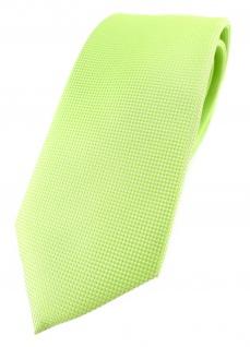 Modische TigerTie Designer Krawatte in limette fein gepunktet