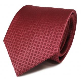 Designer Seidenkrawatte rot dunkles rosé gemustert - Krawatte Seide Binder