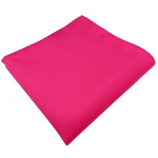 TigerTie Einstecktuch pink knallpink leuchtpink einfarbig uni Rips - Polyester