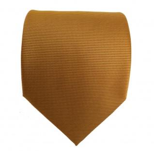 Designer Krawatte orange gold rotorange quer gestreift - Schlips Binder Tie - Vorschau 2