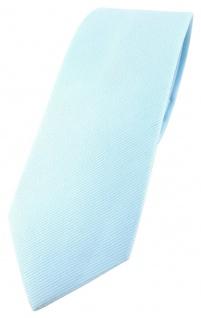 schmale TigerTie Krawatte hellblau Uni - 100% Baumwolle - Krawattenbreite 6 cm