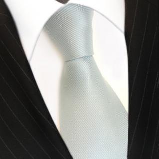 Mexx Seidenkrawatte mint blassmint einfarbig Uni - Krawatte Seide Silk - Vorschau 3