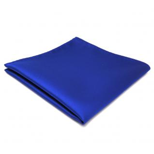 schönes TigerTie Einstecktuch in blau marine royal einfarbig - Tuch Polyester