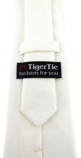 TigerTie Designer Krawatte Pique in creme gemustert - 100% Baumwolle - Vorschau 3