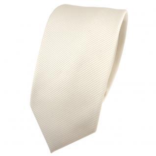 Schmale TigerTie Designer Krawatte beige elfenbein champagner Uni Rips - Binder