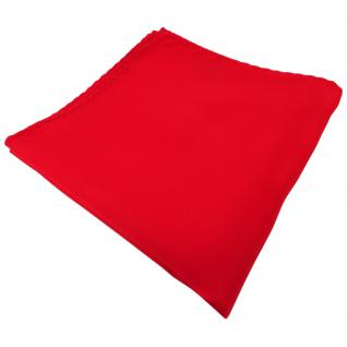TigerTie Einstecktuch rot verkehrsrot knallrot einfarbig - Tuch 100% Polyester