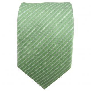 Hennes cologne Designer Seidenkrawatte grün silber gestreift - Krawatte Seide - Vorschau 2