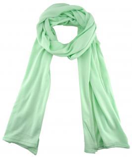 TigerTie - Schal in mint einfarbig Uni - Größe 180 x 30 cm - 100% Viscose