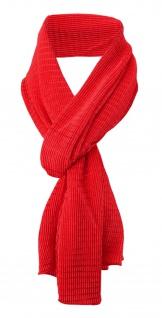 Damen Satin Schal Halstuch rot leuchtrot gemustert Gr. 155 cm x 55 cm - Tuch