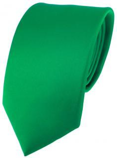 Designer Satin Seidenkrawatte grün Uni - Krawatte 100 % Seide