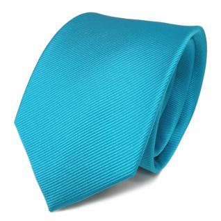Designer Seidenkrawatte mint türkis grün Uni Rips - Krawatte Seide Tie Binder