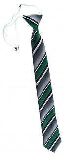 TigerTie Security Sicherheits Krawatte in grün silber grau weiss gestreift