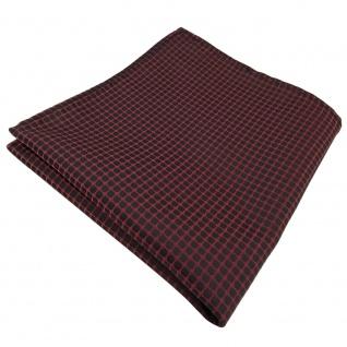 Einstecktuch in braun rotbraun kupferbraun schwarz gemustert - Tuch Polyester