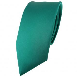 schmale TigerTie Satin Seidenkrawatte in grün einfarbig - Krawatte 100% Seide