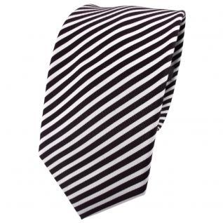 Enrico Sarto Seidenkrawatte blau weiß silber gestreift - Krawatte Seide Tie