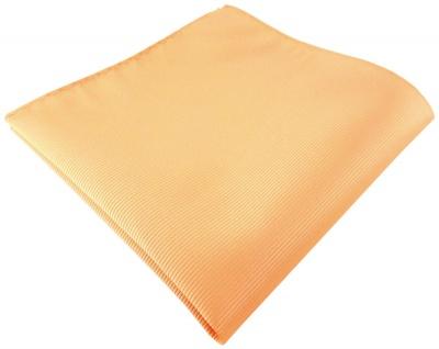 TigerTie Designer Einstecktuch in lachs orange einfarbig uni Rips