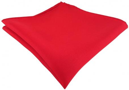 Einstecktuch handrolliert rot einfarbig Uni - 100% Seide - Gr. 30 x 30 cm