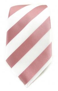 TigerTie Designer Krawatte in rosa weiss gestreift - Vorschau 2