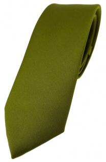 schmale TigerTie Designer Krawatte in farngrün einfarbig Uni - Tie Schlips