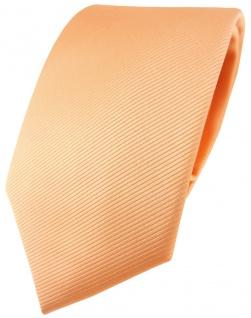 TigerTie Designer Krawatte in lachs orange einfarbig Uni Rips