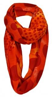 TigerTie Loop Schal in orange blutorange gepunktet - Gr. 160 x 100 cm