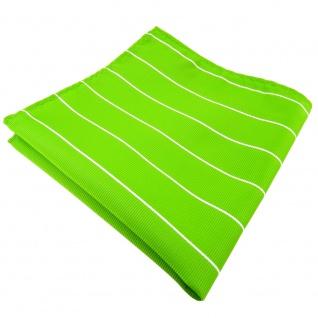schönes Einstecktuch grün leuchtgrün neongrün silber gestreift - Tuch Polyester