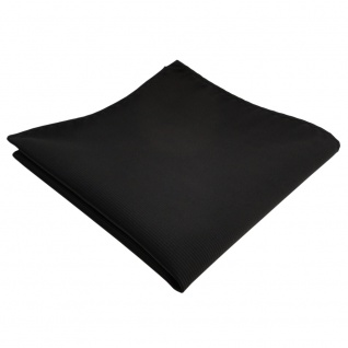 schönes Einstecktuch in schwarz Uni Rips einfarbig - Tuch 100% Polyester