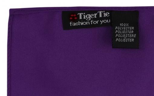 TigerTie Satin Einstecktuch in dunkellila einfarbig Uni - Größe 26 x 26 cm - Vorschau 2