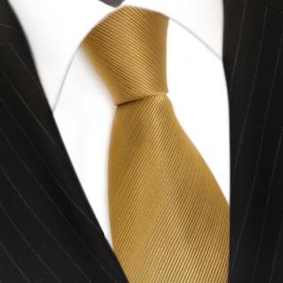 Schicke TigerTie Seidenkrawatte gelb gold gestreift - Krawatte Seide Binder Tie - Vorschau 3