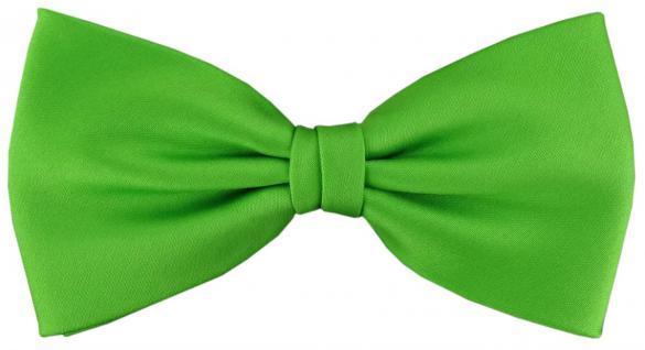 vorgebundene TigerTie Satin Fliege grün leuchtgrün Uni einfarbig + Geschenkbox