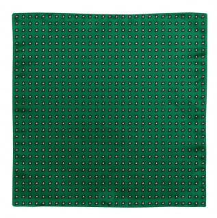 TigerTie Seideneinstecktuch in grün schwarz silber - kleines Paisley Muster