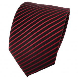 TigerTie Designer Krawatte rot signalrot schwarz gestreift