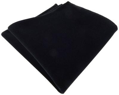 TigerTie Baumwollsamt Designer Einstecktuch in schwarz einfarbig Uni