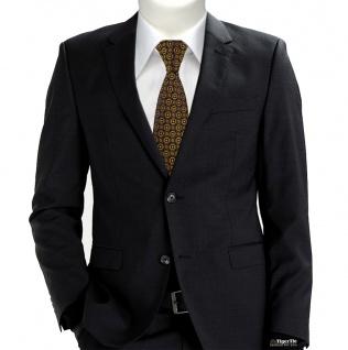 TigerTie Designer Krawatte in gold rosa silber schwarz gemustert - Vorschau 2