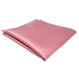 schönes TigerTie Einstecktuch rosa hellrosa einfarbig - Tuch Polyester